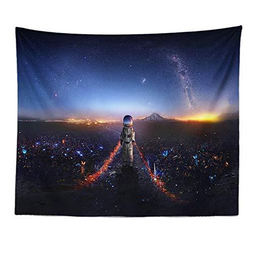 tianhao Tapices para Colgar en la Pared, Astronauta Caminando por el Camino de la luz Alfombra de Tela con Estampado de Colores