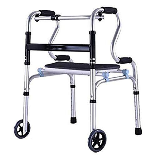 Älterer Wanderer Außenlaufgestell, Leichtklapp Aluminium Rollator Mit 2-Rad-Höheneinstellung Ideal for Den Heimgebrauch