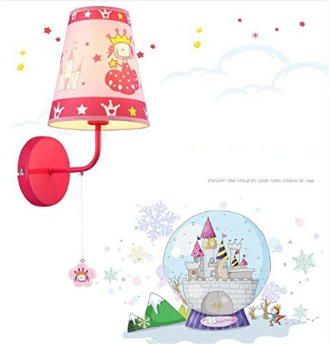 Cartoon éclairage mur de la salle de chevet lampe de chambre mode d'étude mignon de bande dessinée pour enfants chaleureux et moderne d'éclairage LED New Princess Room