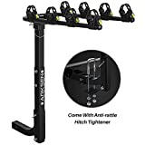 Arksen Premium 4-Bike Carrier Rack Hitch Mount Swing...