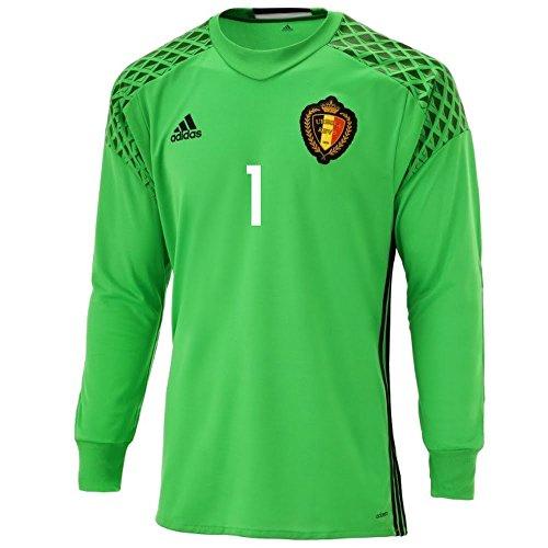Belgien Home TW Trikot 2016 2017 + Courtois 1 (Fan) - M