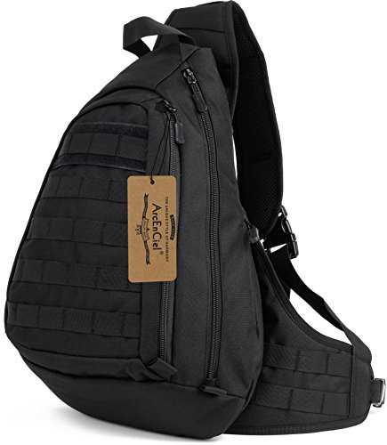 ArcEnCiel Tactical Sling Pack Military Molle Chest Crossbody Shoulder Bags Motorcycle Bicycle...