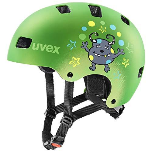 Uvex Unisex Jeugd Kid 3 cc fietshelm, mat groen, 55-58 cm