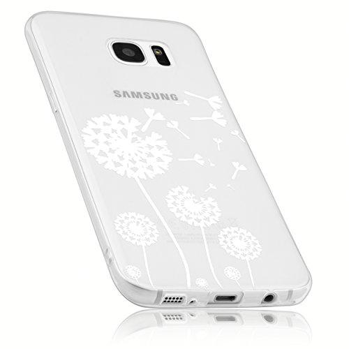 mumbi Hülle kompatibel mit Samsung Galaxy S7 Handy Case Handyhülle mit Motiv Pusteblume, transparent