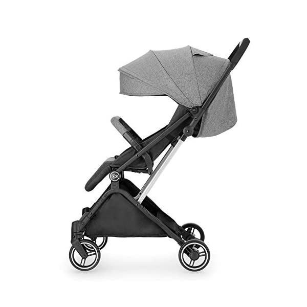 Kinderkraft Lightweight Stroller INDY, Baby Pushchair, Travel Buggy, Easy Folding, Ajustable Backrest to Lying Position, with Accessories, Rain Cover, Footmuff, from Birth to 3.5 Years, 0-15 kg, Gray kk KinderKraft QUICK FOLDING AND UNFOLDING - INDY is equipped with a mechanism that allows you to fold and unfold the stroller with one hand. Thanks to this feature you can easily operate the stroller, even if you are holding your Toddler at the same time INTINITELY ADJUSTABLE BACKREST - A walk is a great opportunity for your baby to observe the world, discover new places and enjoy naps in the fresh air. That's why INDY is equipped with an infinitely adjustable backrest so that the stroller can support your Toddler's development at all times MANOEUVRABLE WHEELS - When you use the stroller every day, you often have to move in the crowd. With INDY it's not a problem. Lightweight and extremely manoeuvrable wheels made of puncture-resistant EVA foam will make pushing the stroller a pleasure, and additional cushioning will protect your baby from shocks 8