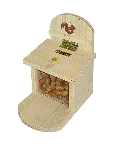 Elmato - 10225 - Mangeoire pour écureuils - Avec vitre en plexiglas