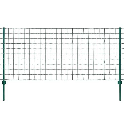 vidaXL Maschendrahtzaun Komplett Set 20x1 m Stahl Metallzaun Gartenzaun Zaun