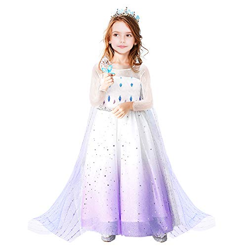Teaisiy Prinzessin Kostüm, Mädchen Kleider Mädchen Geschenke 5 6 Jahre Festliches Kleid Mädchen Prinzessin Kleid Mädchen Cosplay Kostüm Spielzeug Mädchen 5 6 Jahre Weihnachts Geschenke für Mädchen