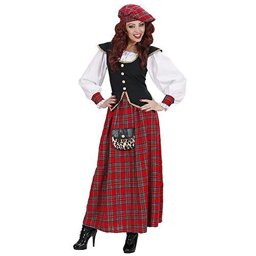 Widmann - Kostüm Schottische Frau, Kleid und Hut, Mottoparty, Karneval