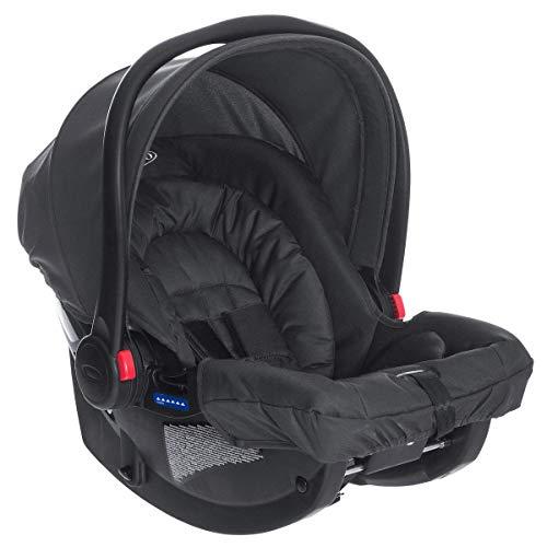 GRACO SnugRide Babyschale, leichter Baby-Autositz, Schwarz, Geburt bis 13 kg