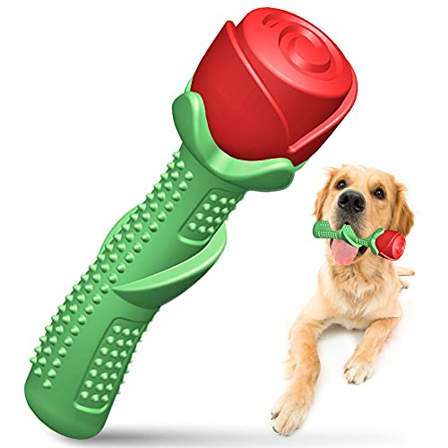 SIDINIC Dog Chew Toy, Dog Chew Toys for Medium Large Breed Interactive Dog Toys for Medium Dogs Rose Gift for Dog Birthday Gifts for Valentine's Day, Christmas