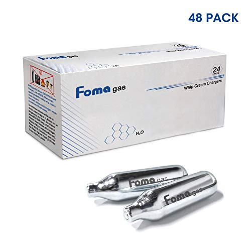 FOMAGAS Whipped Cream Chargers, 48 Pack