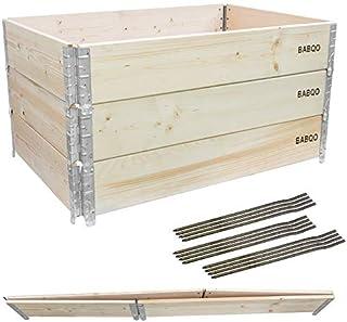 3 Nadstawki paletowe drewniane 120x80cm na Warzywnik 60cm -