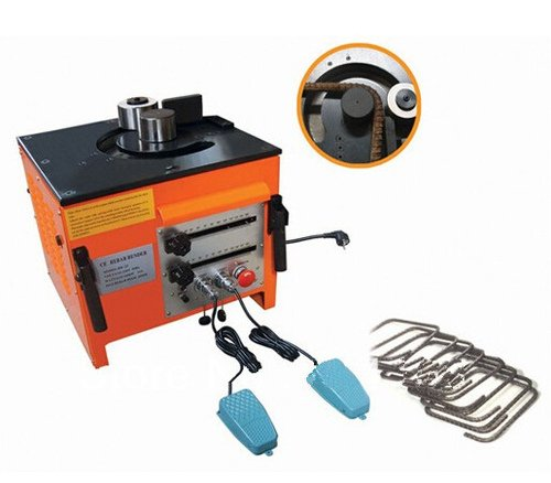 Gowe Construction Cintreuse hydraulique (Construction Bender Gamme 0–180 ° max Construction : 32 mm) portable Construction résistante et Construction à main se pencher en machine