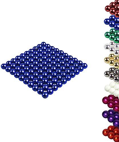 Luckyrao VIELE Farben: 100 Magnetkugeln 5mm Neodymmagnet Supermagnet Instudriemagnet: NdFeb 38 (blau)