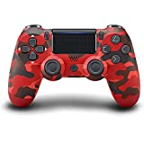 PS4 Controller Wireless Bluetooth Gamepad, with Dual Vibration, Audio Function, Touch Screen, with USB Cable, 800mAh, Non-Slip Handle, LED Light, Compatible with PS4/Pro/Slim/PC