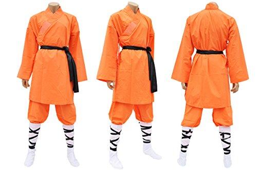 Shaolin-Anzug, Baumwolle, orange Large /...