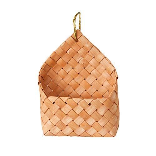 the teapot company Legno Cestino Tessuto a Mano Carrello Rattan Hanging Basket Basket archiviazione delle Famiglie da tavola Decorazione Domestica Bagagli Carrello Bagagli Carrello