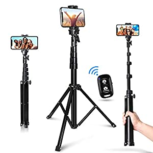 """Selfie Stick Tripod, 54"""" Extendable Phone Camera Selfie Stick with Tripod Stand & Wireless Remote Compatible with iPhone 11/11PRO/XS Max/XS/XR/X/8P/7P, Galaxy S10/S9/S8, Small Camera,Lightweight"""