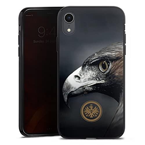 DeinDesign Silikon Hülle kompatibel mit Apple iPhone Xr Hülle schwarz Handyhülle Eintracht Frankfurt Offizielles Lizenzprodukt Adler