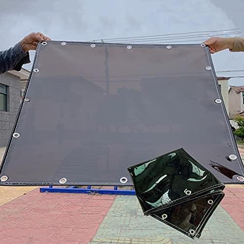 MDCG Telone Nero Trasparente Panno Impermeabile 500g/㎡ Protezione Solare Ombreggiatura Isolamento Panno per capannone Balcone Elementi Impianti Occludere Panno Antipioggia Tela Cerata