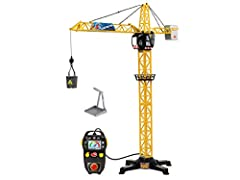 The Dickie Toys Construction Crane: the playroom turns into a building site! Impressive vehicles and interesting noises: lots of children find building sites really exciting - it's rare for them to get as close to the action as they can with the Dick...