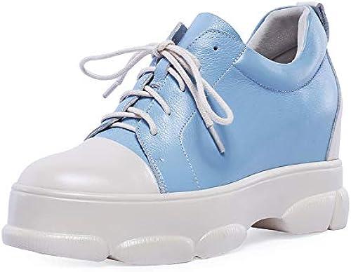 HommesGLTX Talon Aiguille Talons Hauts Sandales 2019 Femmes Pompes Bout Rond en Cuir Véritable Chaussures à Lacets Confortable Plate-Forme Chaussures Mode Chaussures De Sport