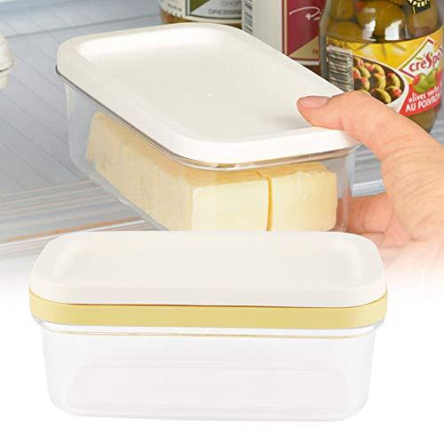 Contenedor de mantequilla, caja de mantequilla, caja de queso, red de corte multifunción, 6.7 x 3.9 x 2.8 in con tapa para almacenamiento de mantequilla