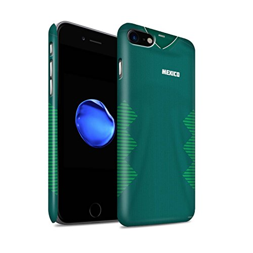 Stuff4® matte Duro Snap On hoes, cover/caso/telefoon behuizing voor Apple iPhone 8/Mexico/Mexicaans/Mexico/beker 2018 voetbal design
