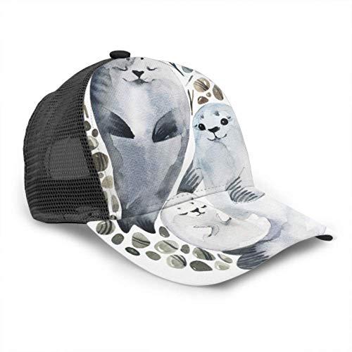 Gorra de béisbol para Hombres y Mujeres, Lindo Estilo de focas de...