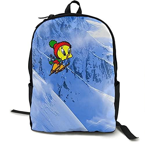 Tweety Bird - Mochilas ligeras resistentes al agua para adolescentes y niñas, mochila escolar con bolsa de almuerzo