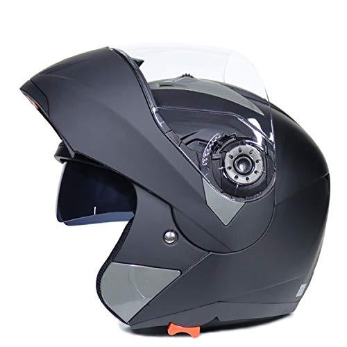 Casco Moto Modular Flip Up Casco de cara completa con Doble Visera Casco de Motocicleta ECE Homologado Cascos de motocross Transpirable y cálido para Mujer Hombre Adultos H,XXL