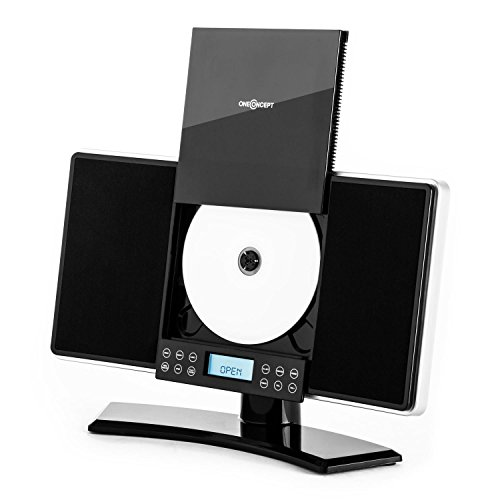 Oneconcept V-14 Black Edition - Minicadena, Altavoz estéreo, Reproductor de CD, MP3,...