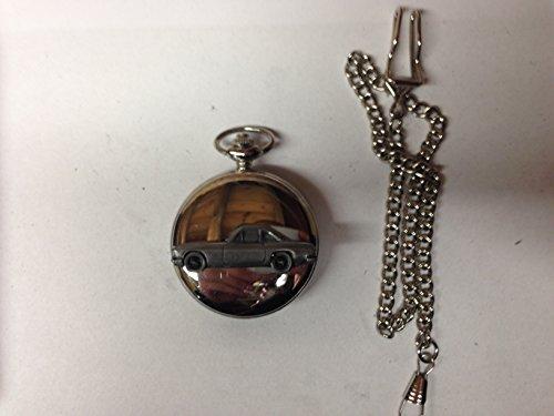 Reliant Scimitar GT Coupe ref199 emblema de coche con efecto peltre pulido caja de plata para hombre regalo cuarzo reloj...