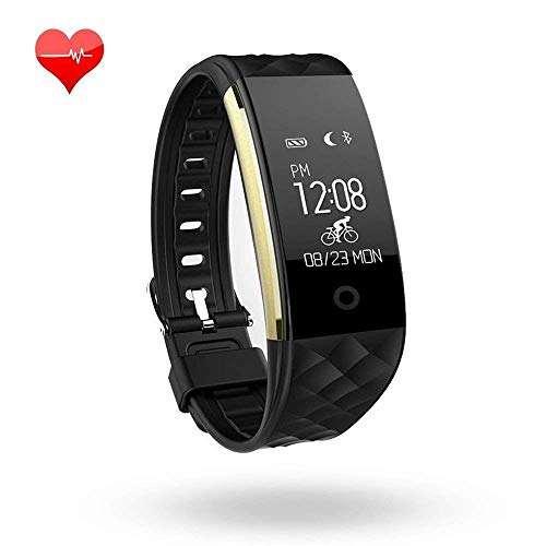 Scofit Activiteit Tracker Hartslagmeter Fitness Health Tracker Waterdichte Smart Polsband Band met Stappenteller Slaapmonitor Stap Calorie Counter Bluetooth Armband voor iPhone Android