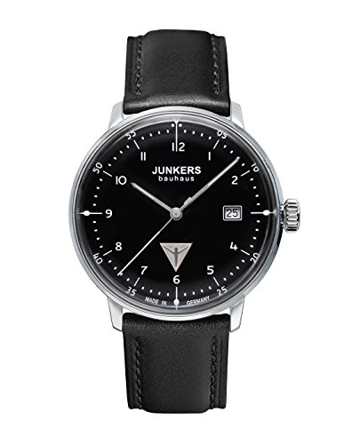 Junkers 60462 Men's Quartz Battery Watch with Black Dial Analogue...