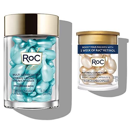 ROC Multi Correxion Hyaluronic Acid Night Serum Capsules (30 CT) + RoC Retinol Capsules (7 CT), Anti Aging Skincare