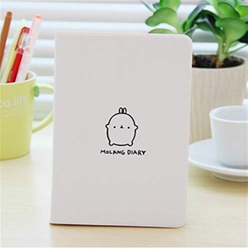 Cuadernos de diario en blanco de papel rayado plan Cute Kawaii Notebook Cartoon Cute Lovely Journal Agenda Planificador Bloc de notas for niños Regalo Papelería coreana Tres cubiertas Paquete de traba