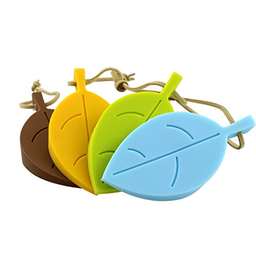 SIM&NAT 4 PCS Multicolor Leaf Durable Rubber Door Stop,Door Secure Stop Wedge,Door Protector,Doorstopper,Finger Protector