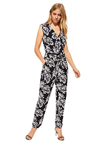 Comma Womens 81.006.85.2506 Overall 3/4 Jumpsuit, 59f2, 38