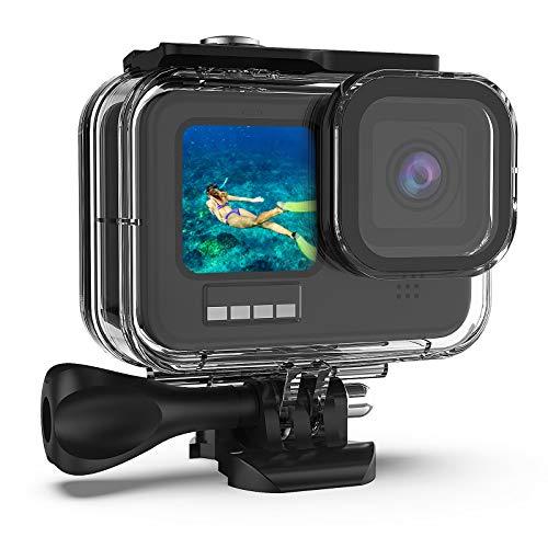 Deyard 60M Custodia Impermeabile per GoPro Hero 9 Black, Custodia Protettiva Subacquea 196FT Custodia Protettiva per Immersione Custodia Protettiva per Videocamera Hero 9 Black