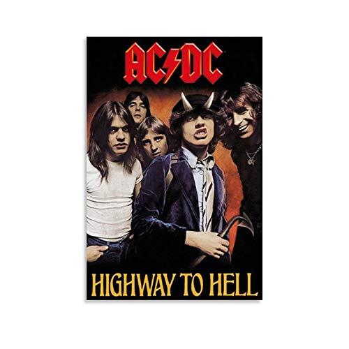 DIDIWEI Ac Dc Highway to Hell, poster artistico e da parete, stampa di immagini moderne, camera familiare, 30 x 45 cm