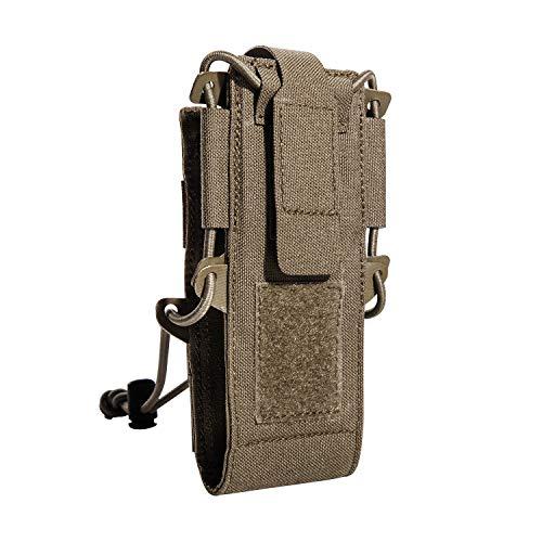 Tasmanian Tiger TT Digi Radio Pouch Molle-kompatible, extrem Flache Tasche für Digitale Funkgeräte mit Display-Schutz aus Vinyl (Coyote Brown)