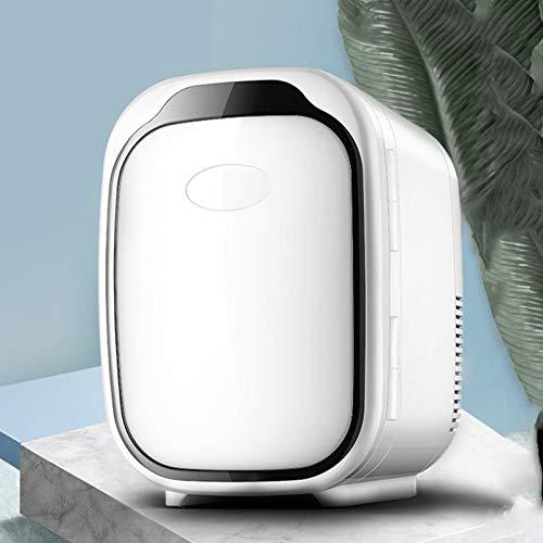 GAOXIAOMEI Mini Fridge 6L / 6 Can Portable Mini Cooler & Warmer para Bebidas, Cosmética/Maquillaje/Skincare, Potencia AC/DC, Estilo Retro, para Dormitorio, Hogar, Caravana, Coche