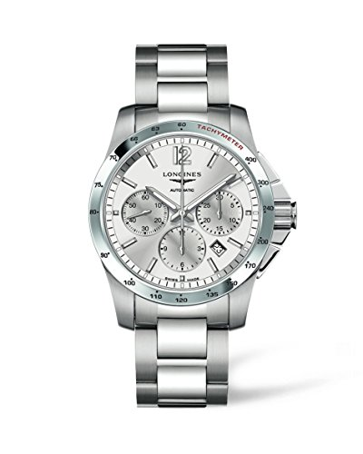 Longines L27434766 - Reloj de automático para Hombre, con Correa de Acero Inoxidable, Color Plateado