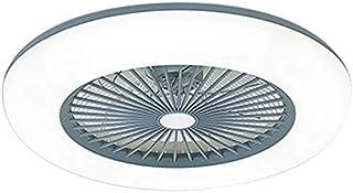 Lámpara de Techo LED con Ventilador, 200-240V 2880LM, 3 Velocidades Ajustables y 3 Colores Claros Ajustables,Sincronización Inteligente,Ventilador de Techo con Control Remoto para Sala de Estar