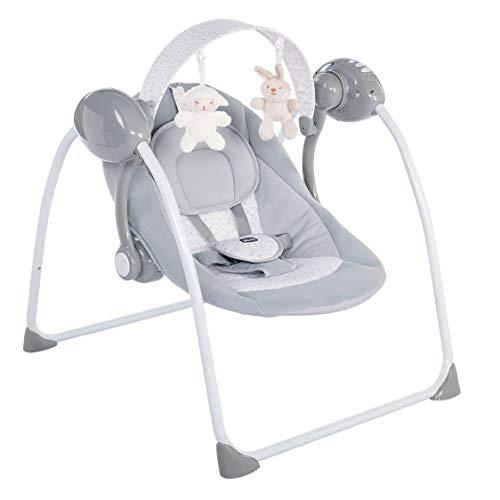 Chicco Relax & Play Balancelle avec Balancement Automatique pour Bébé, Réglable à 5 vitesses, Fermeture Compacte - de la Naissance à 9 Kg - Gris