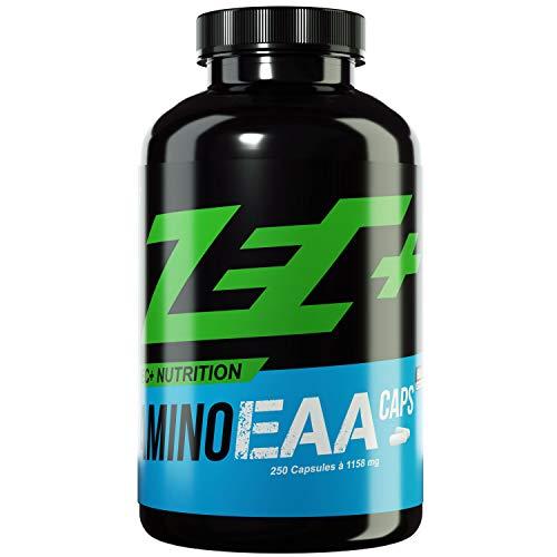 ZEC+ AMINO EAA CAPS - 250 Kapseln, essentielle Aminosäuren, hochdosiertes Aminosäure Pulver in Kapselform, 8 EAAs & wertvolle Vitamine