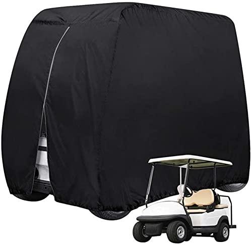 Yuansr Golf Cart Cover, Golf Cart Cover Wasserdichtes Staub, Türreißverschluss für 2-Sitzer-4-Sitzer-Dach bis 80'L, Clubwagen, Universal Golf Cart Cover (Size : Large)