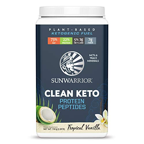 Sunwarrior - Vegan Clean Keto Protein Peptides Powder - Tropical Vanilla - 720g